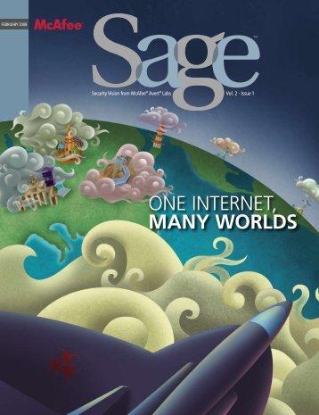 One Internet, MANY WORLDS - McAfee