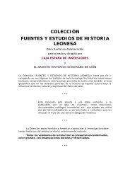 colección fuentes y estudios de historia leonesa - Caja España