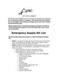 Emergency Preparedness - Pierce County