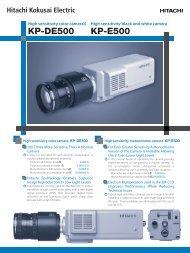 KP-DE500 KP-E500 - Image Labs International