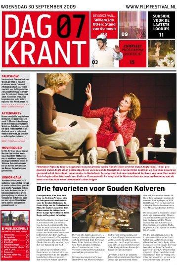 Dagkrant 7: 30 september 2009 - Nederlands Film Festival