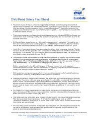 Child Road Safety Fact Sheet 3 - European Public Health Alliance