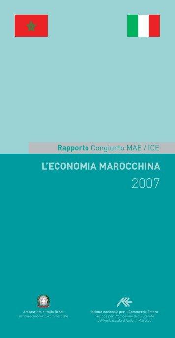 L'ECONOMIA MAROCCHINA - Ambasciata d'Italia a Rabat
