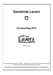 Voranschlag 2013 - Gemeinde Lauerz