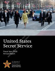 U.S. Secret Service: Fiscal Year 2009 Annual Report - United States ...