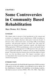 Some Controversies in Community Based Rehabilitation - Source