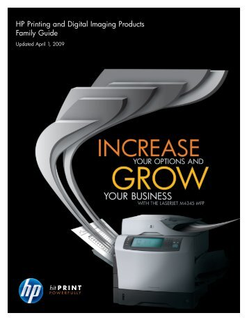 HP Printing and Digital Imaging Products Family ... - HP IPG Products