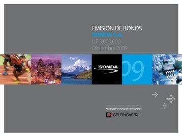 Emisión de Bonos, Presentación a Inversionistas - Sonda