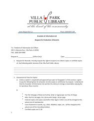 1 Freedom of Information Act Request for Production of Records To ...