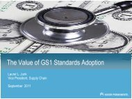The Value of GS1 Standards Adoption - Healthcare Transformation ...