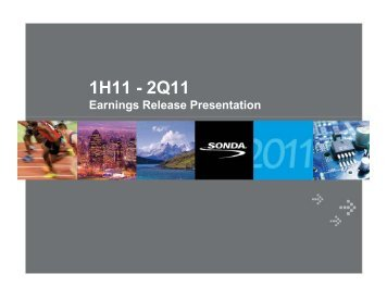 2Q11 Earnings Release Presentation - Sonda