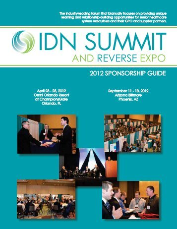 2012 SPONSORSHIP GUIDE - IDN Summit and Expo