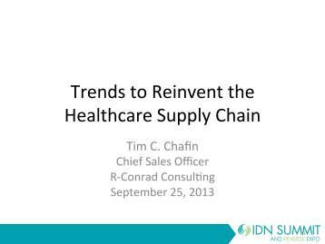 Tim Chafin - IDN Summit and Expo