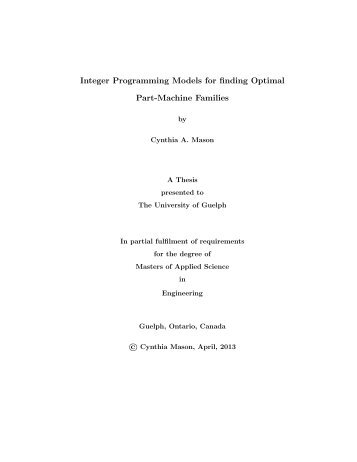 University of guelph masters thesis