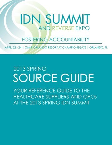 SOURCE GUIDE - IDN Summit and Expo