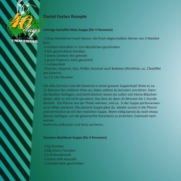 Daniel Fasten Rezepte - ICF-Zofingen