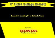 Dundalk's Leading F1 in Schools Team