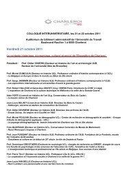Programme en ligne - Patrimoine Industriel Wallonie-Bruxelles