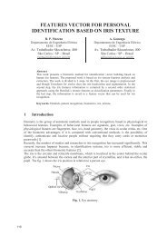 features vector for personal identification based on iris texture