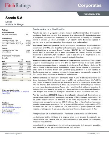 Fitch Ratings Fundamentos de la Clasificación - Sonda