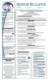 Senior Bulletin - Bartlesville Public Schools