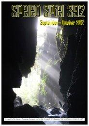 Speleo Spiel – Issue 392, September–October 2012 – page 1 - LMRS