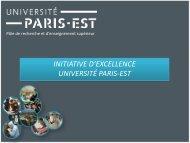 Télécharger la présentation power point du projet Université Paris-Est