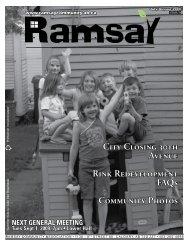 July 2009 - Ramsay Community Association in Calgary