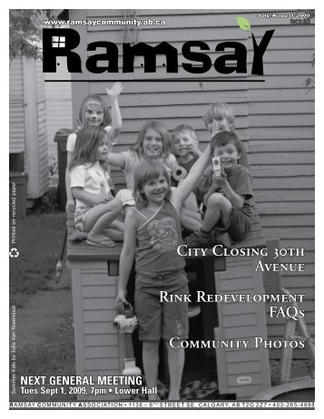 July 2009 - Ramsay Community Association in Calgary