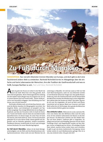Wandertag - Zu Fuß durch Marokko - Rytz