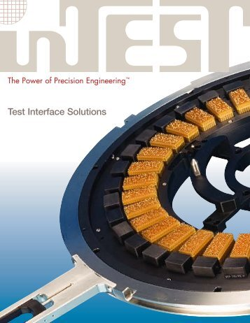 NEW Test Interface Products Brochure - InTest Corporation