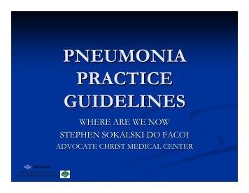 PNEUMONIA PRACTICE GUIDELINES