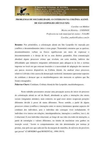 Caroline von Mühlen - X Encontro Estadual de História – ANPUH-RS