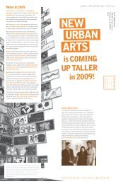 is COMING UP TALLER in 2009! - New Urban Arts