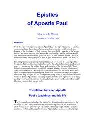 Epistles of St Paul - Online Christian Library