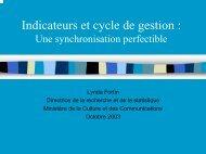 Indicateurs et cycle de gestion - La Société québécoise d'évaluation ...