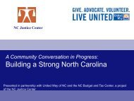 Impacts - United Way of North Carolina