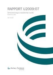Rapport U2009:07 Torrkonservering av matavfall från ... - Biogasmitt