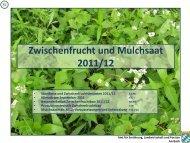Zwischenfrucht und Mulchsaat 2011/12 - Amt für Ernährung ...