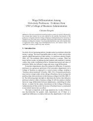 Wage Differentiation Among University Professors: Evidence from ...
