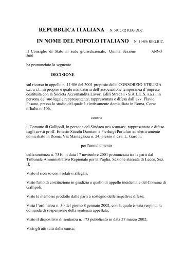 Consiglio di Stato - UTFP