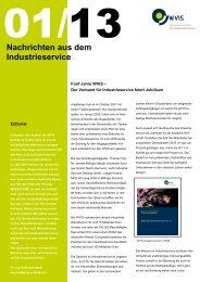 Nachrichten aus dem Industrieservice 01 2013 - WVIS ...