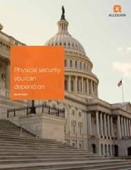 Physical Security You Can Depend On - Security Technologies