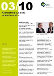Nachrichten aus dem Industrieservice 03 2010 - WVIS ...