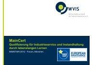 MainCert - WVIS Wirtschaftsverband für Industrieservice e.V.
