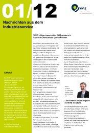 Nachrichten aus dem Industrieservice - WVIS Wirtschaftsverband für ...
