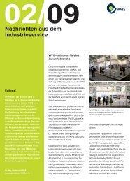 Nachrichten aus dem Industrieservice 02 2009 - WVIS