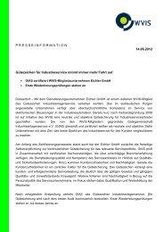 Gütezeichen Industrieanlagenservice - WVIS Wirtschaftsverband für ...