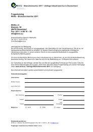 Fragenbogen WVIS Branchenmonitor - WVIS Wirtschaftsverband für ...
