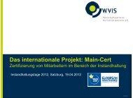 Main-Cert - WVIS Wirtschaftsverband für Industrieservice e.V.